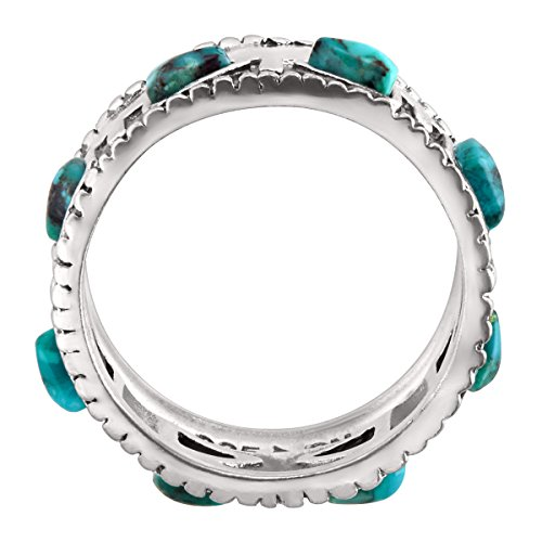 Silpada 'Trailblazer' Compressed Turquoise and Sterling Silver Ring, Size 11 Photo #2