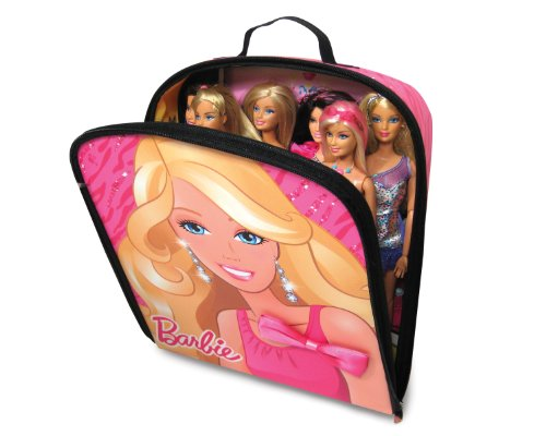 2 Item Bundle Barbie Zipbin Fab Doll Storage Case