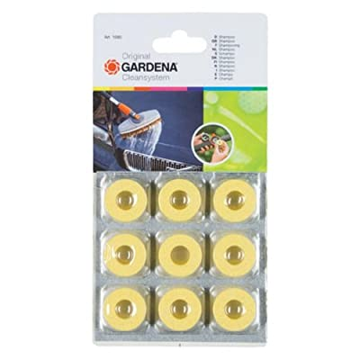 Gardena 1680 Wash Brush Car Shampoo Disks - 9 Pack: Garden & Outdoor