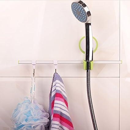 CLG FLY Sucker Rain Shower Head Shower Deck Brackets Waterproofing Wall  Shelf Towel Rack#