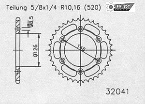 ab 2005 REGINA O-Ring Kettensatz Suzuki DR-Z 400 SM