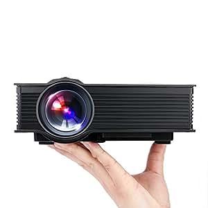 TEC.BEAN Mini proyector portátil inalámbrico (USB, VGA, HDMI AV)