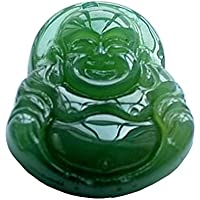Chinese Traditional Craving / Lucky God Green Agate Carving Pendant (Happy God)