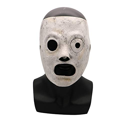 Slipknot Mask Latex Corey Taylor Mask Adjustable Men's Helmet Cosplay Costume Halloween Prop for Adult Gray