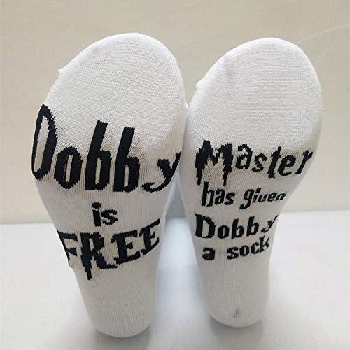 Calcetines Cortos Calcetines Calientes Calcetines de Moda Calcetines con Deslizador con declaraci/ón de Personalidad de algod/ón Suave:Dobby is Free Daliuing Unisex