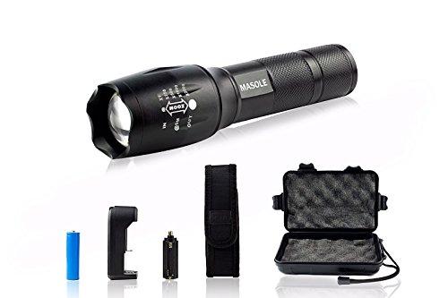 Masole XML T6 Ultra Bright LED Tactical Flashlight, 1000