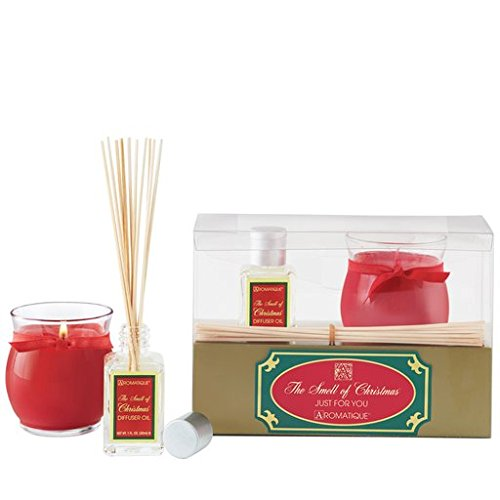 Aromatique Gift Set Reed Diffuser w Votive 13-799 Smell of Christmas