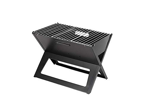KESS Barbecue Grill Portable BBQ Charcoal Grill Smoker Grill for Outdoor Garden Grill Cooking Table Camping Hiking Picnics Backpacking (X Model BBQ Grill)