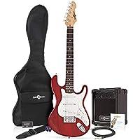 Guitarra eléctrica LA 3/4 + Paquete de Amplificador de 10 W Granate