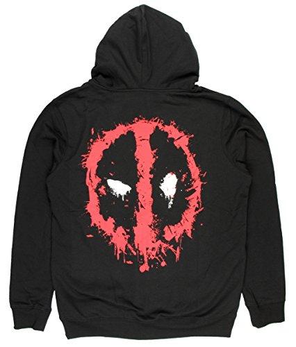 Deadpool Splatter Adult Sized Hoodie
