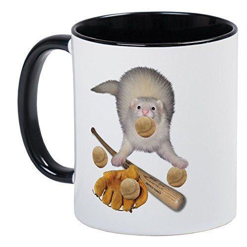 CafePress Baseball Ferret Mug Unique Coffee Mug, Coffee Cup