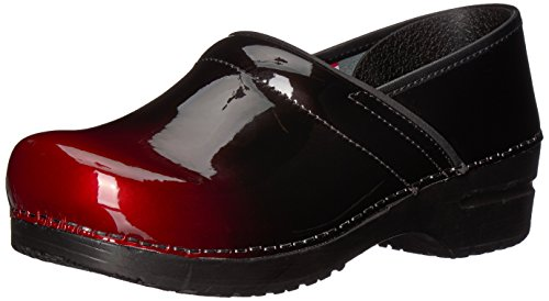 Sanita Women's Origiinal Pro. Milan Clog, Red, 37 M EU (6.5 US) (Red Patent Clog)