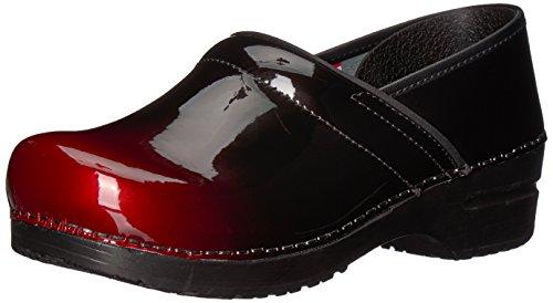 Sanita Women's Origiinal Pro. Milan Clog, Red, 37 M EU (6.5 US) (Patent Red Clog)