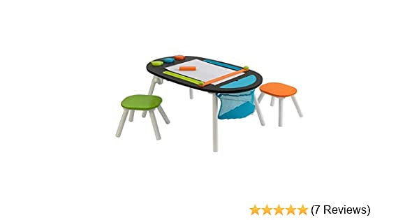 KidKraft Deluxe Chalkboard Art Table with Stools 3+ Years