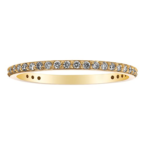 Olivia Paris 14k Yellow Gold Diamond Eternity Wedding for sale  Delivered anywhere in USA