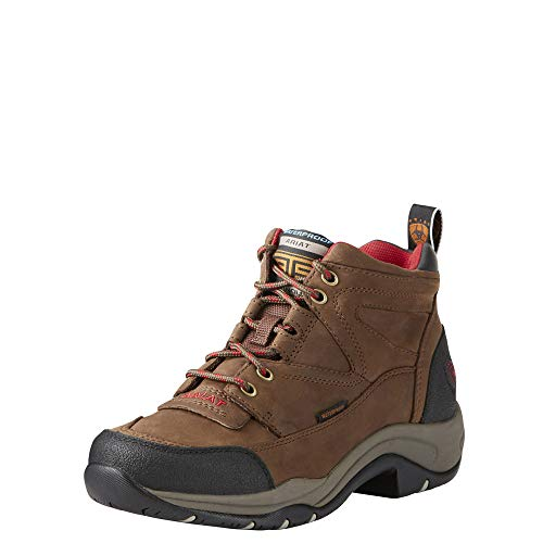 Ariat Women's Terrain H2O Boots Distressed Brown 6 C