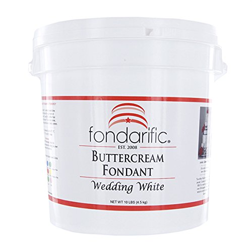 Fondarific Buttercream Wedding White Fondant, -