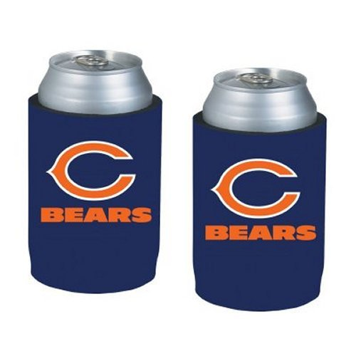 NFL Football Can Insulators - Neoprene Beer Can Kolder Holders, Set of 2 (Bears) ()