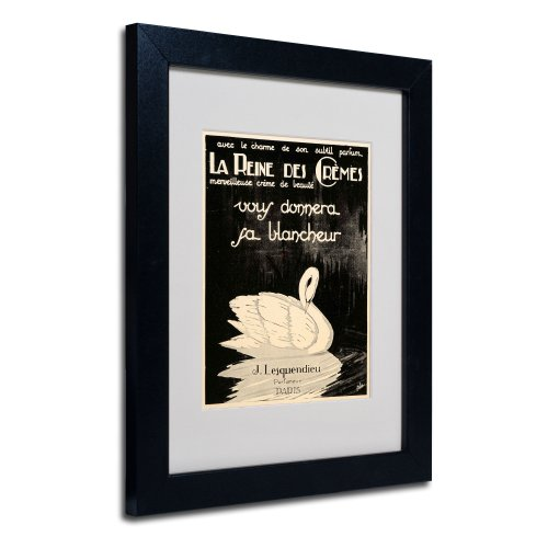 Apple Collection - Trademark Fine Art Lesquendieu Cremes Artwork by Vintage Apple Collection, Black Frame, 11 by 14-Inch