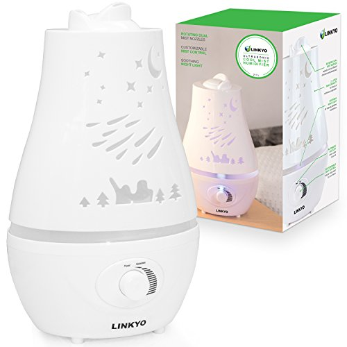 LINKYO Cool Mist Ultrasonic Humidifier - Whisper Quiet