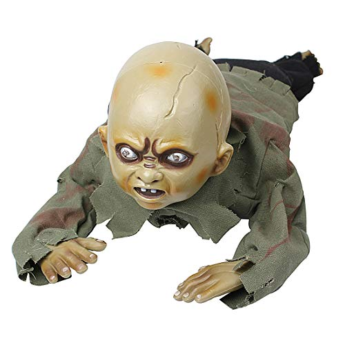 Zombie Baby Prop - Hophen Halloween Animated Crawling Creepy Baby