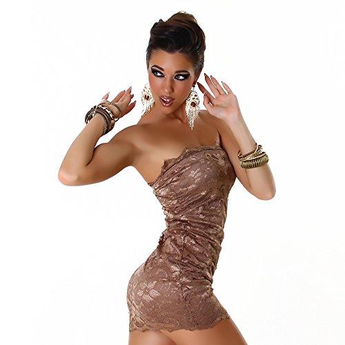 Jela London - Vestido - Noche - Básico - Sin mangas - para mujer Latte-Macchiatto