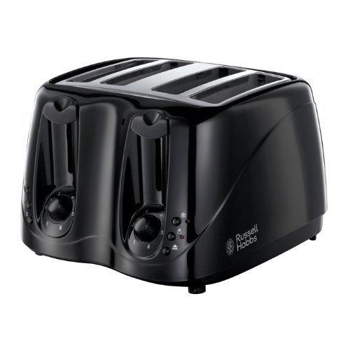 Russell Hobbs 14340 4 Slice Toaster - Black by Russell Hobbs