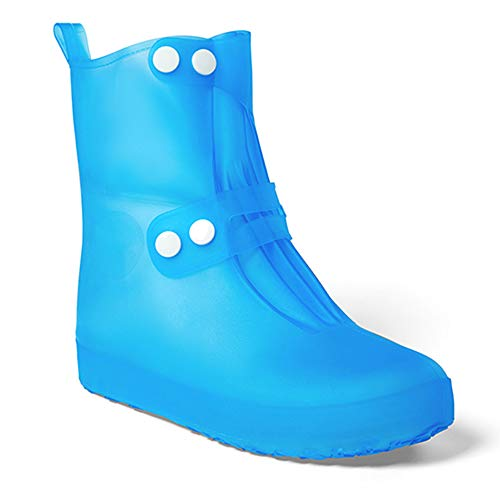 1 Pair Reusable Waterproof Shoe Covers Anti-Slip Overshoes Rain Boots Travel Rain Gear For Women ()