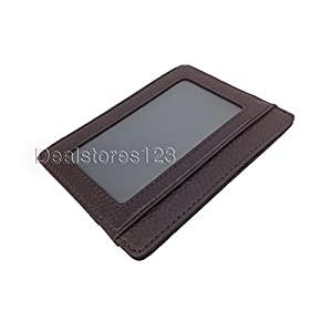 Dealstores123 -Slim Genuine Leather ID Wallet & Credit Card Holder Wallet Sold only by Dealstores123
