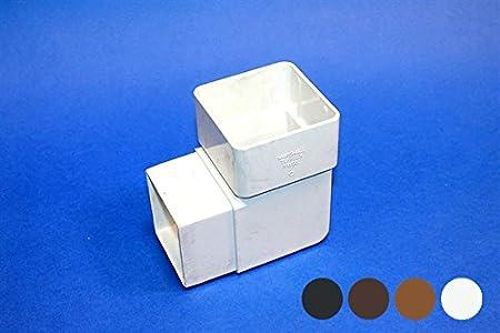 Marshall Tufflex Square 65mm Down Pipe 90 degree Angle Bend Elbow RWSB1 Black White Brown Clay BROWN