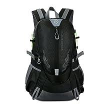 Outdoor bag travel kit Waterproof Outdoor Sports Shoulder Bag Travel Backpack (Black)