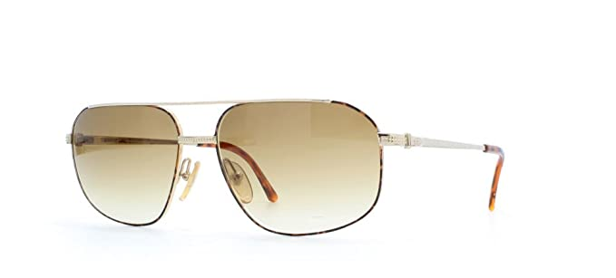 cb2a0a18e95 Christian Dior 2743 41A Brown Certified Vintage Aviator Sunglasses For Mens   Amazon.co.uk  Clothing