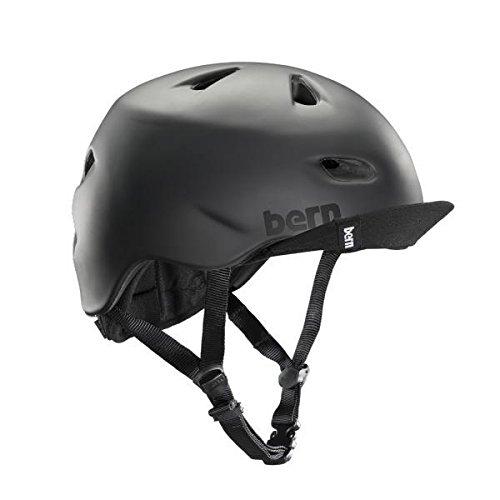 Bern Unlimited Brentwood Summer Helmet with Flip Visor, Matte Black, Small/Medium