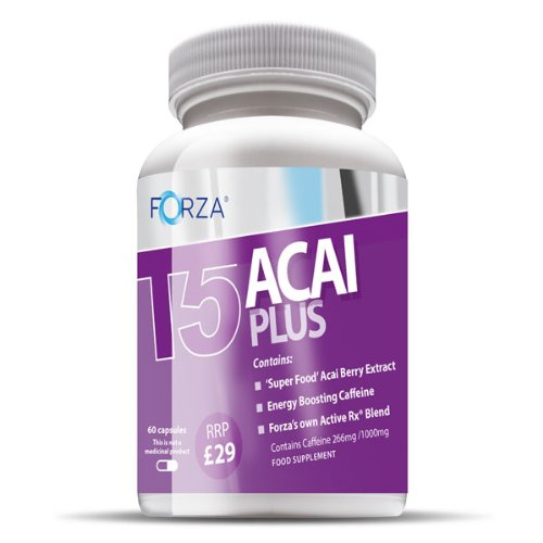 FORZA ® T5 Acai plus Fat Burners thermogéniques pilules amincissantes & Diet Weight Loss Supplements coupe-faim (60x550mg Capsules)