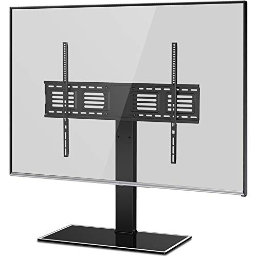 FITUEYES Universal TV Stand with Swivel Mount Height Adjustable for 50inch to 80 inch TV - Tv Sharp Stand