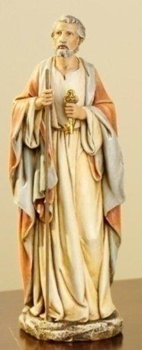 Joseph's Studio Resin Saint St Peter with Keys of Heaven Figure Statue, 10 Inch (Peter Saint Statue)