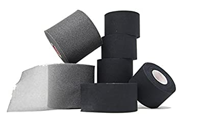 "Athletic Tape and Pre Wrap Kit: – 6 Rolls of Black Athletic Tape 1.5"" x 10 yds & 2 Rolls of Pre Wrap - high quality, very strong, no residue, easy tear - save money with this bundle"