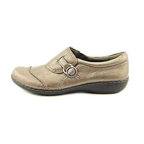 Clarks Damen Ashland Indigo Black Loafers Zinn-Leder