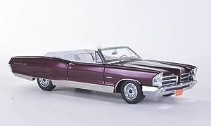 Pontiac Bonneville Convertible, met. dark red , 1965, Model Car, Ready-made, Neo 1:43 by Pontiac