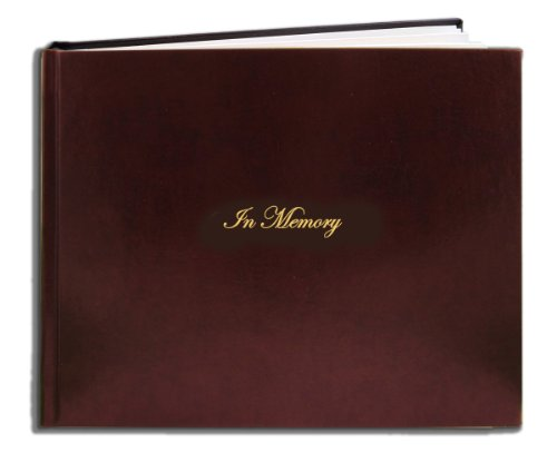 BookFactory Leather Funeral Guest Book