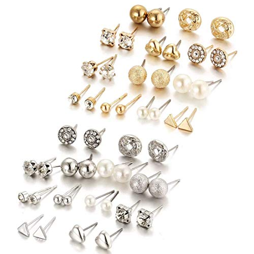 Shining Diva Fashion Non-Precious Metal Base Metal Cubic Zirconia Earrings For Women (Pack of 36)