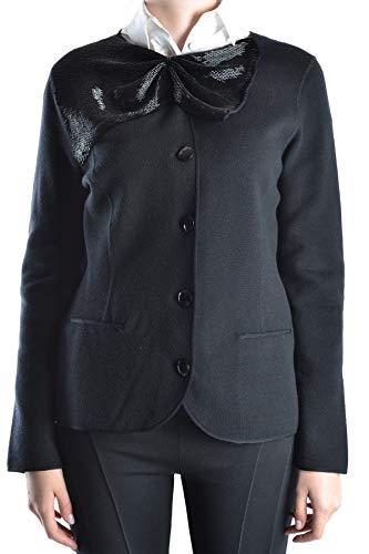 armani-collezioni-luxury-fashion-womens-mcbi14372-black-blazer-season-outlet