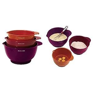 Kitchenaid 6 piece mixing bowl set kitchen for Kitchenaid 6 set