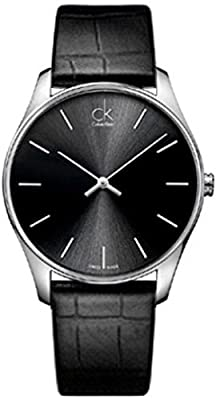 Calvin Klein CK Men's Black Classic Dress Watch K4D211C1