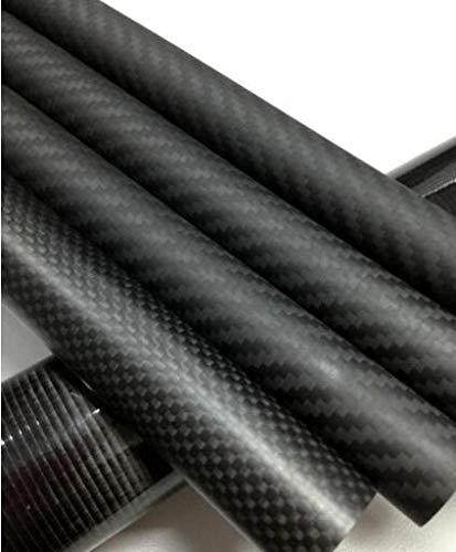 BeesClover  Tubo Circolare in Fibra di Carbonio 3k 100% Pieno Lunghezza 500mm Twill Opaco OD 10mm 12mm 14mm 15mm 16mm 18mm 20mm 22mm 25mm 30mm 4pcs 30x28mm