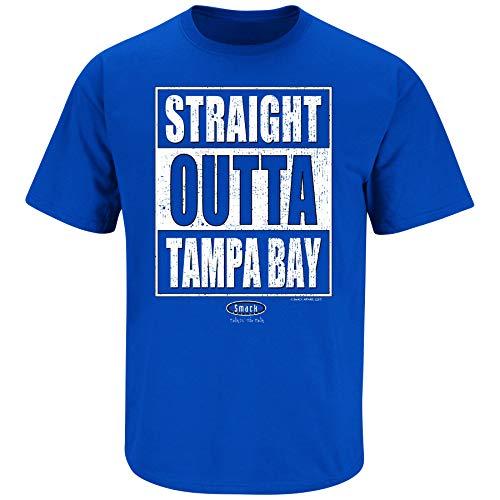 (Tampa Bay Hockey Fans. Straight Outta Tampa Bay. Royal Blue T Shirt (Sm-5X) (Short Sleeve, Small))