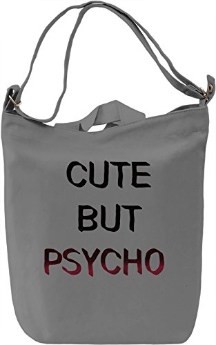 Cute Psycho Borsa Giornaliera Canvas Canvas Day Bag| 100% Premium Cotton Canvas| DTG Printing|