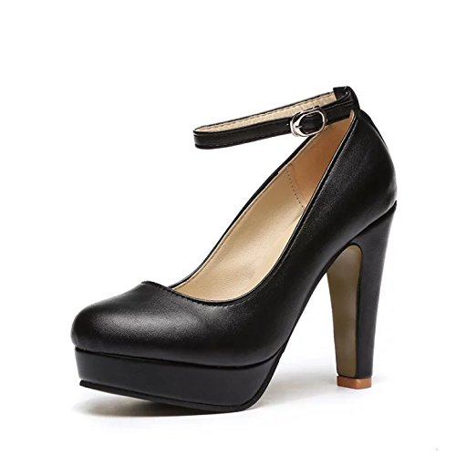 Mujeres Vendaje Prueba Tacón Black VIVIOO Con Tacones De Bombas Zapatos Cm 10 A Grande Las De De Agua Grueso Moda Tamaño Altos De Alto De qaHxHdXS