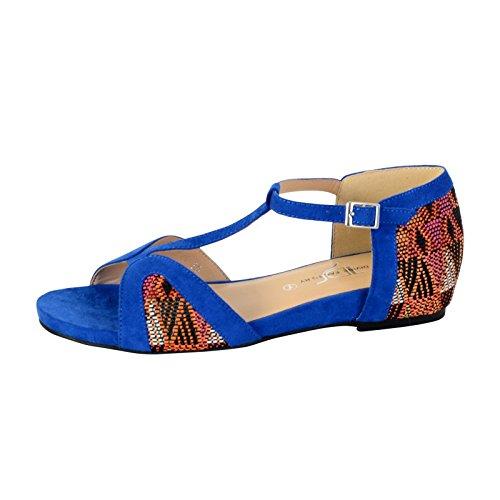 Sandalia de La Divina Fábrica TDF2924 Azul Bleu