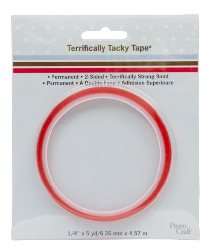 - Provo Craft 243071 1/4-Inch Terrifically Tacky Tape